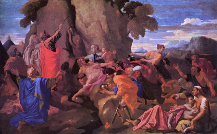 poussin2c_nicolas_-_moses_striking_water_from_the_rock_-_1649